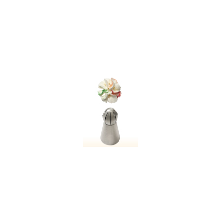Douille en acier inoxydable spécial chantilly, moyen, no 41