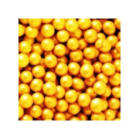 Decora Edible Pearls Gold 4mm, 100 g