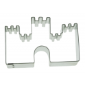 Castle cookie cutter, 8 cm
