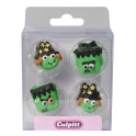 Culpitt Icing Decorations monsters & witches, 12 pieces