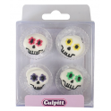 Culpitt Icing Decorations Party Skulls, 12 pieces