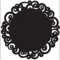 Wilton - Black Doilies, 10 pieces
