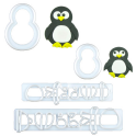 FMM - Mummy and baby penguin Cutter, set of 4