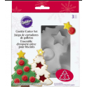 Wilton - Mini & Oversized Cookie Cutters Tree Set, 3 pieces