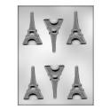 CK - Form für Schokolade Eiffel Turm, Hartplastik, 6 Vertiefungen