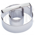 Doughnut (donut) & biscuit ring cutter, stainless steel