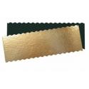 Rectangular Cake Board Golden wavy, 34 x 12 cm, approx. 1 mm thick