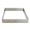 De Buyer - Cercle carré à tarte, 20 cm, 2 cm de haut
