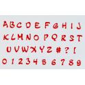 FMM Emporte-pièce Alphabet majuscule & chiffres MAGIQUE, 2 cm
