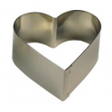 Decora - Cercle à dessert coeur, 6 cm, 4.5 cm de haut