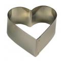Decora - Cercle à dessert coeur, 10 cm, 4.5 cm de haut