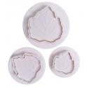 Cake Star - Breite Blätter Ausstech- und Prägeform, 3er Set