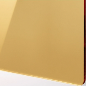 Plexiglas mirror gold